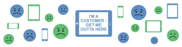 I'm a Consumer, Get Me Outta Here illustrated graphic
