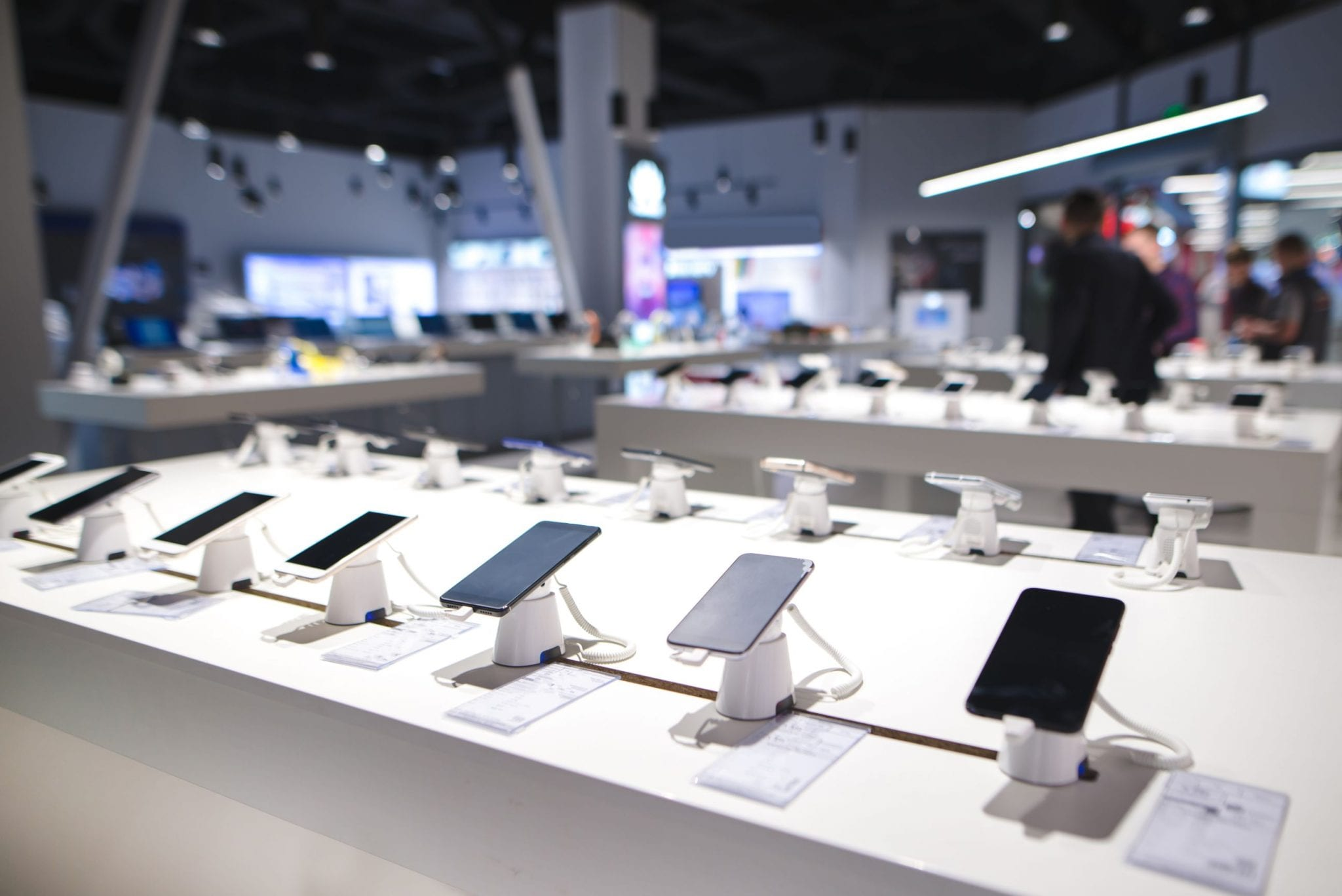 inside phone store